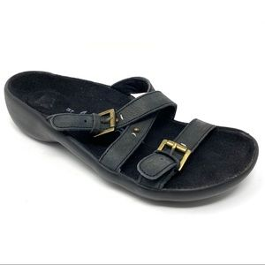 Tatami by Birkenstock black leather Idelle sandals